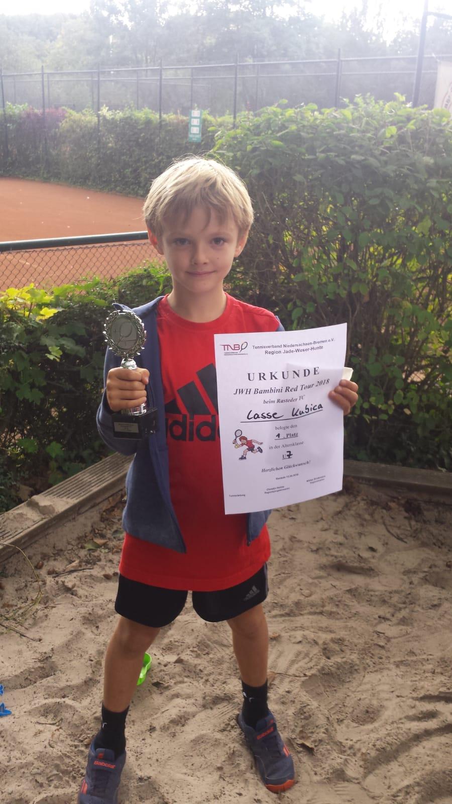 Lasse Kubica wiederholt Sieg beim 27. JWH Bambini Red-Cup