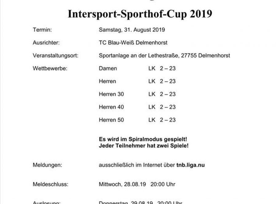 7. TCBW LK-Tagesturnier Intersport Sporthof Cup 2019