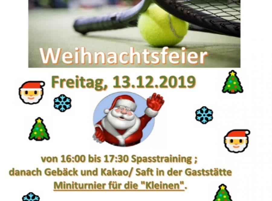 TC BW Kinder Weihnachtsfeier 2019/ Ball u. Bewegungsschule macht Weihnachtsferien
